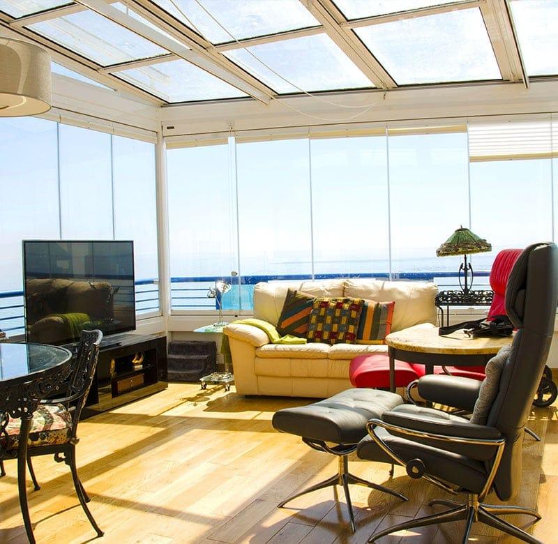 vetrate scorrevoli panramiche per spazi esterni ed interni